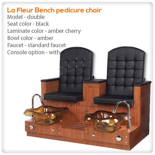 Lafleur Bench Double Spa Pedicure Chair Spasalon Us