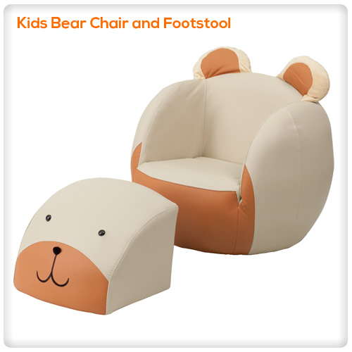 Excellent Kids Bear Chair And Footstool Spasalon Us Pabps2019 Chair Design Images Pabps2019Com