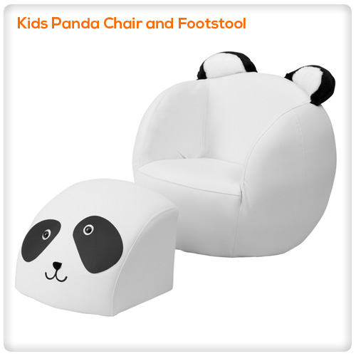 Peachy Kids Panda Chair And Footstool Spasalon Us Gmtry Best Dining Table And Chair Ideas Images Gmtryco